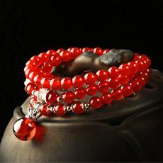 天然红玛瑙多圈手链★甜美可爱时尚手串★精美女性饰品
