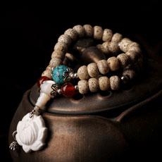天然星月菩提佛珠手链★古典时尚女式多层念珠手串