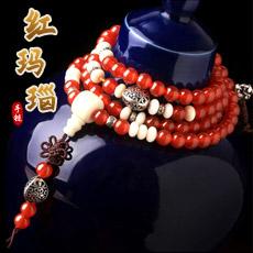 天然红玛瑙多圈手手链★甜美可爱菩提根手串★精美女性饰品