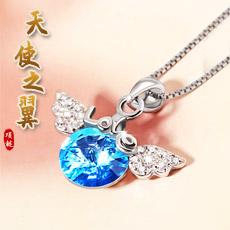 925银吊坠女款个性简约饰品天使之翼款