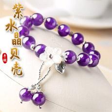 紫水晶贝壳手链★女性时尚配饰精美礼品