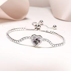 S925银爱心手串★多款爱心系列手链★给你我的心让我们心连心
