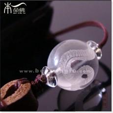 白水晶生肖蛇手机链