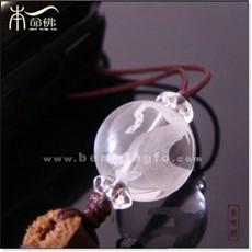白水晶生肖羊手机链