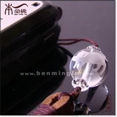 白水晶生肖猪手机链