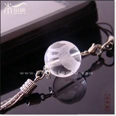 白水晶生肖虎手机链