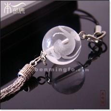 白水晶生肖猴手机链
