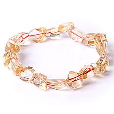 天然黄水晶随形手链★精美通透-财富之石★时尚水晶饰品