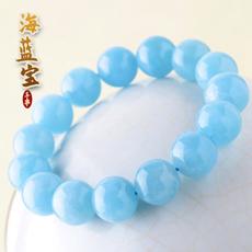 天然海蓝宝手链★时尚流行女性水晶手串饰品