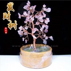 天然粉水晶树