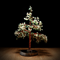 东陵石水晶树摆件★玛瑙水晶树工艺品摆件