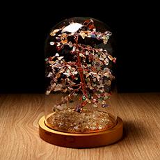水晶树摆件★七彩树黄水晶工艺品摆件