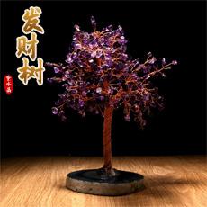 紫水晶水晶树摆件★玛瑙水晶树工艺品摆件