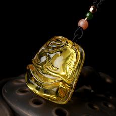 天然琥珀金珀貔貅吊坠★精美波罗的海蜜蜡皮休挂坠