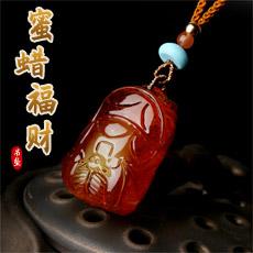 天然琥珀蜜蜡福财吊坠★精美波罗的海蜜蜡挂坠