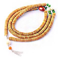 【观因缘】天然橄榄木108颗佛珠手链★6mm片珠多圈念珠手串★精美木质手串饰品