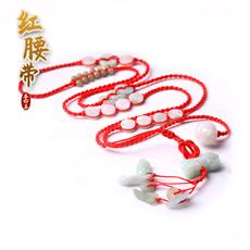 天然翡翠红腰链★手工编织出入平安红腰绳★2020年本命年红腰带