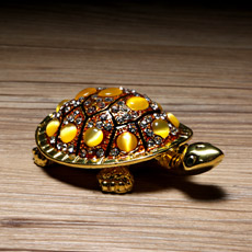 创意小礼品★合金镶水钻长寿龟小摆件★精致装饰送女士必备