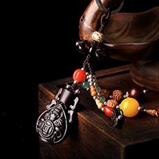 平安是福枣木金刚菩提钥匙挂件★手工编织枣木钥匙扣多款可选★祈福保平安