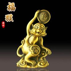 铜器吉祥猴摆件★吉猴家居摆设