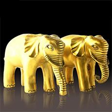 精品铜器富贵荣华象大象对象摆件