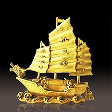 精品铜器摆件★一帆风顺家居工艺品摆设