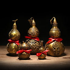 铜招财进宝葫芦摆件★八卦葫芦家居摆设多款