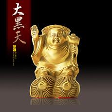 铜器摆件★大黑天日本财神家居摆设