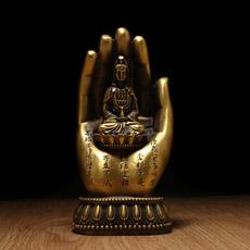 铜质佛手观音菩萨摆件