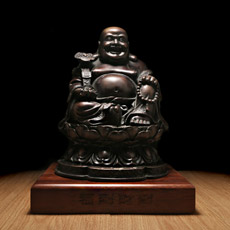 精品铜器摆件★福到财到之弥勒佛家居工艺摆件