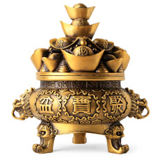 大号铜香炉摆件★聚宝盆