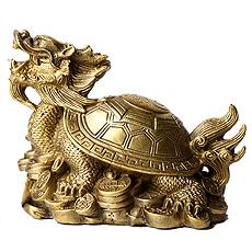 铜质龙龟摆件★中号八卦龙龟家居吉祥工艺品摆设