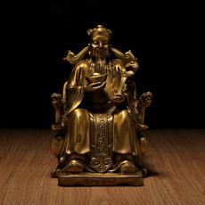 铜器财神摆件★中号文财神佛像开业乔迁艺品摆设