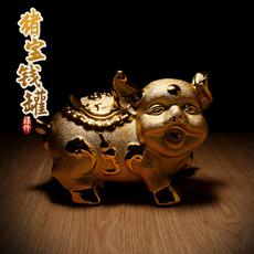 财富猪宝宝存钱罐福猪宝宝存钱罐★时尚陶瓷卡通金猪家居摆设