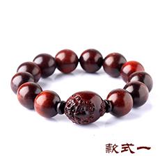 天然小叶紫檀貔貅佛珠手串★紫檀貔貅佛珠手链[多款]