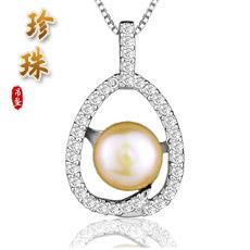 925银镶珍珠项链★心中唯一★恋恋夏日爱情信物